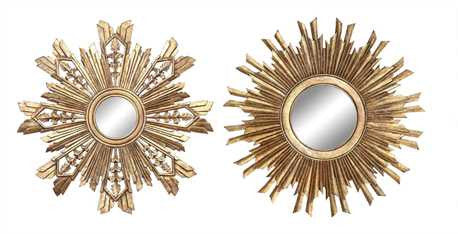 Classic Golden Arrows Sunburst Mirror Set