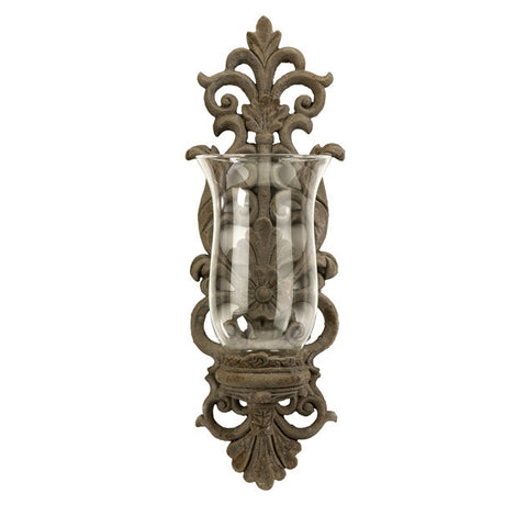 Grand Pollianna Wall Sconce with Glass Hurricane
