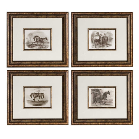 For the Love of Horses, Wall Art, Set of 4