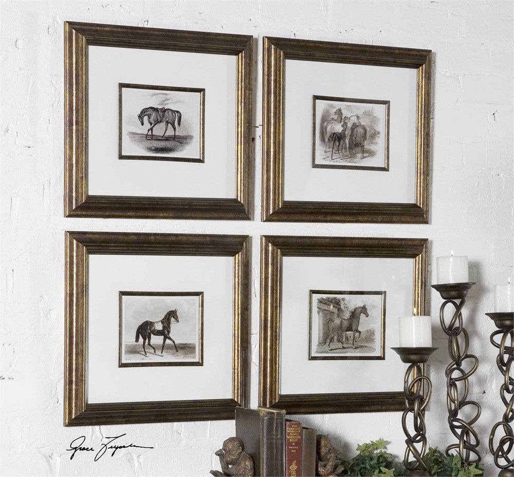 ... For The Love Of Horses, Wall Art, Set Of 4