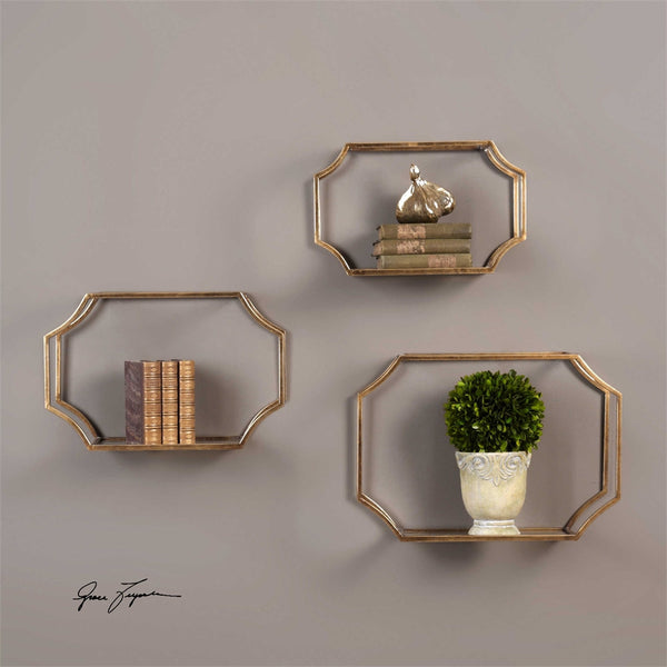 Lindee Wall Shelves, Set of 3