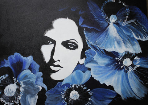 BLUE FLOWERS, NEETA PATHARE