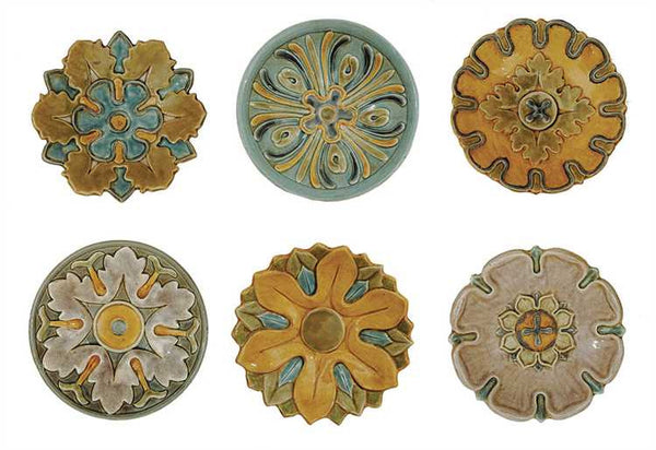 Palazzo Glazed Terracotta Wall Plates Set