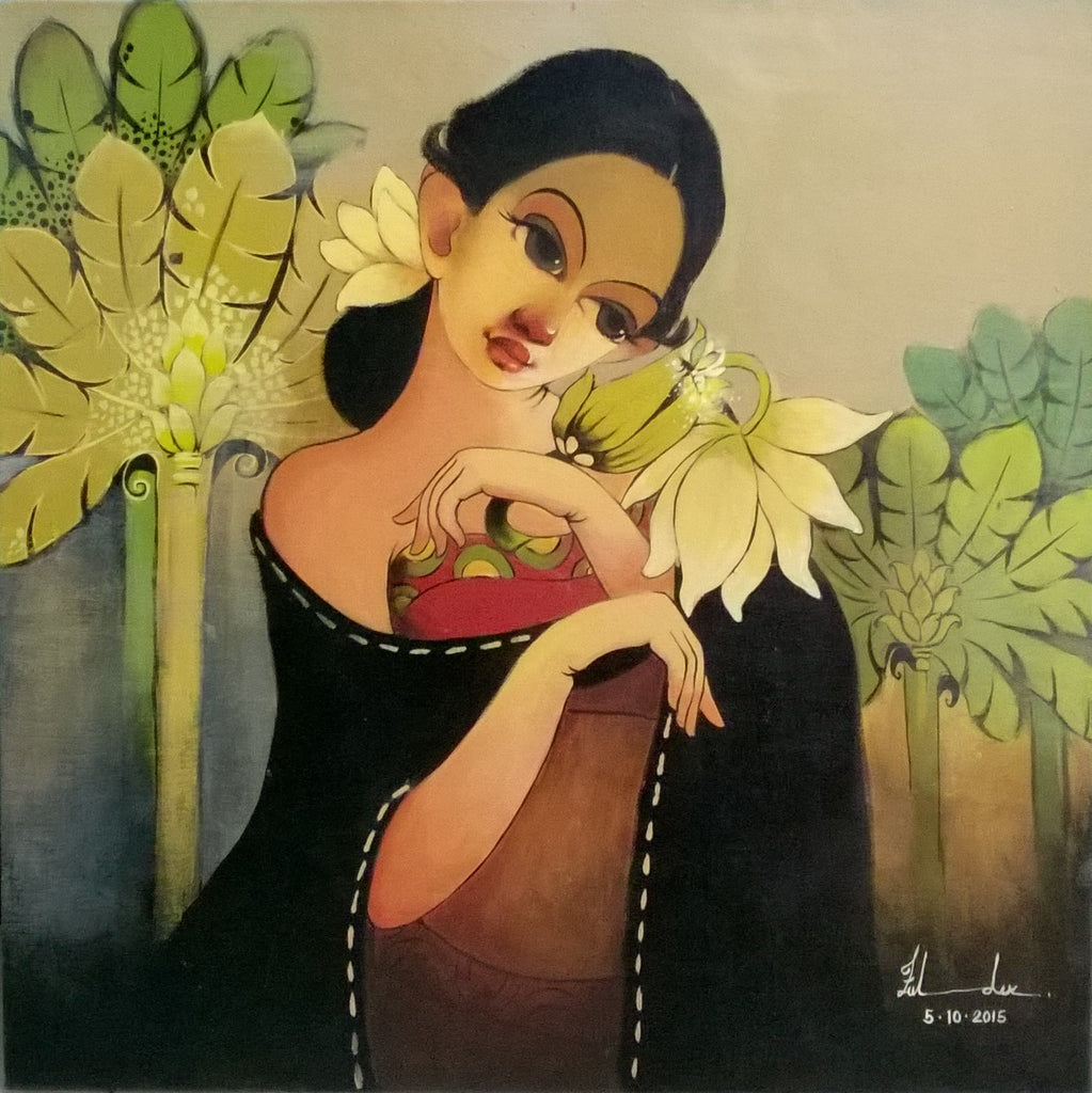 LADY WITH FLOWER, RENUKA FULSOUNDAR