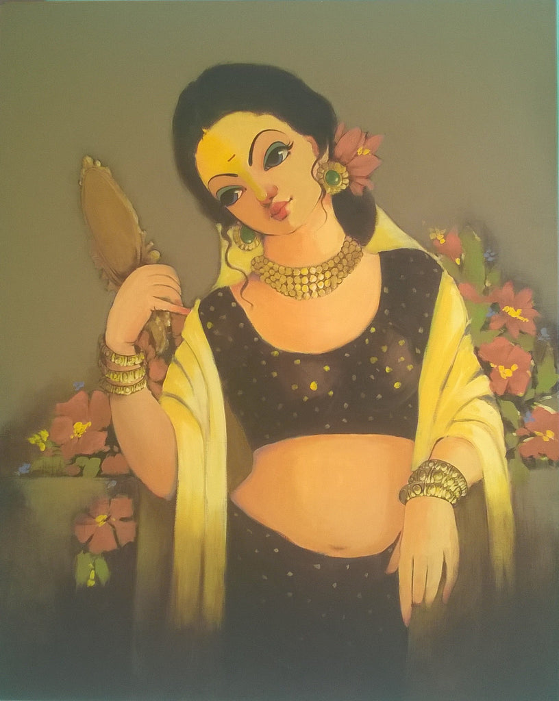 LADY WITH MIRROR, RENUKA FULSOUNDAR
