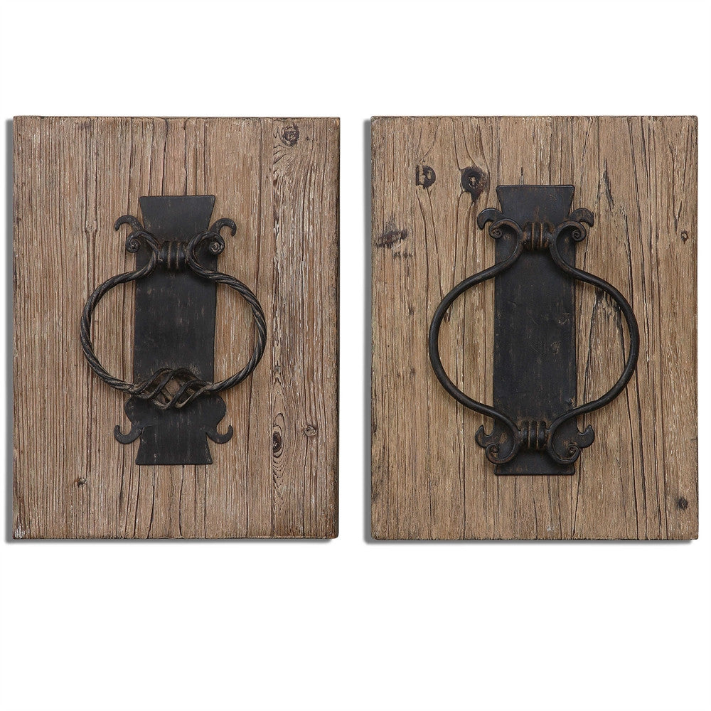 Rustic Door Knockers, Set of 2