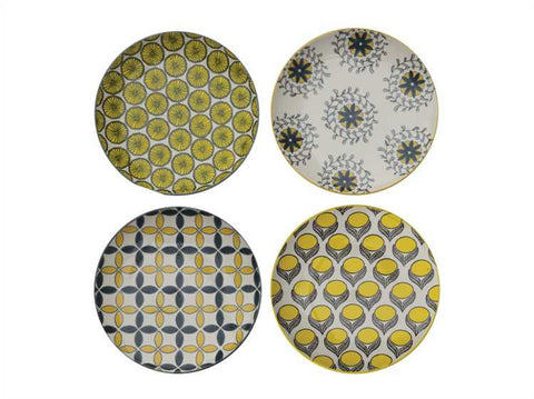 Spring Stoneware Plates, Set of 4