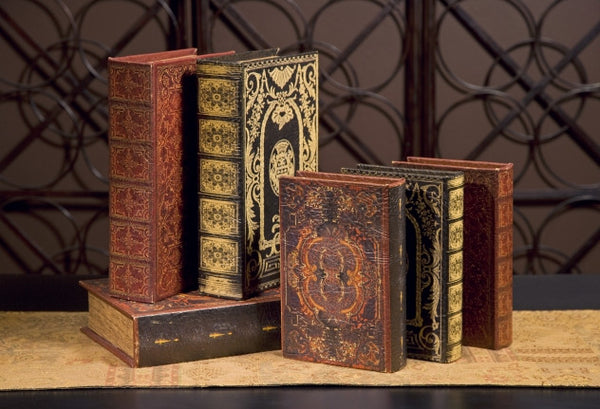 The French Gild Antique Book Box Collection, Set of 2