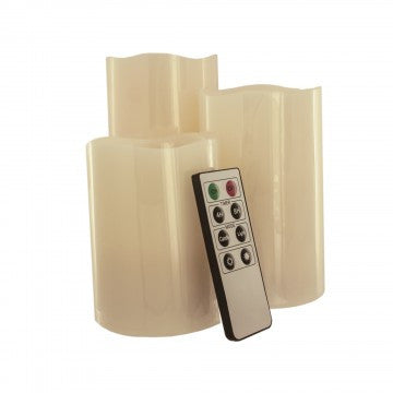 Vanilla Scented Flameless Candles Set with Remote