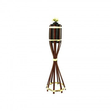 Polynesian Wicker Tiki Torch