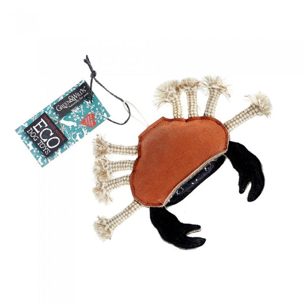 Green & Wilds Carlos Crab Eco Dog Toy - Distinctive Pets