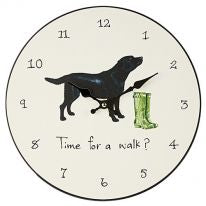 Black Labrador Clock - Distinctive Pets