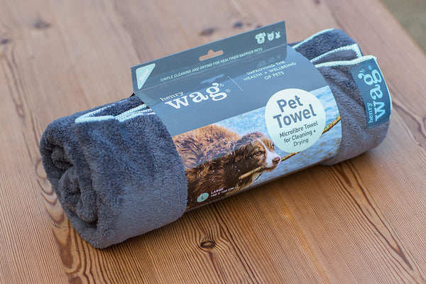Henry Wag Microfibre Pet Towel - Distinctive Pets