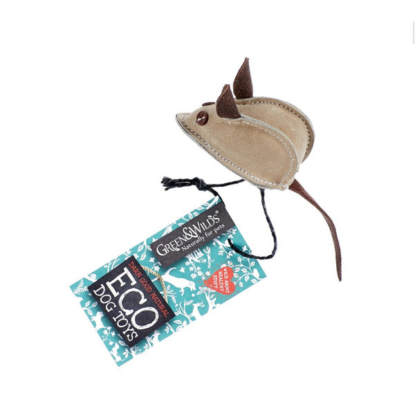 Green & Wilds Mike the Mouse - Eco Dog Toy - Distinctive Pets
