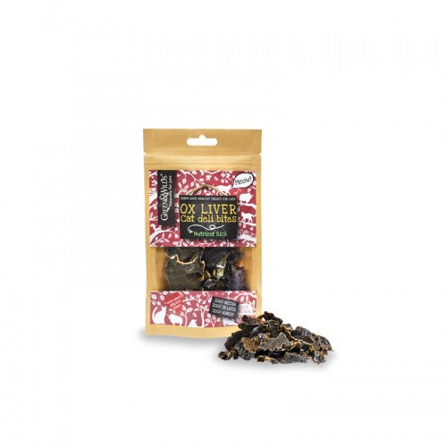 Green & Wilds Ox Liver Bites for Cats - Distinctive Pets