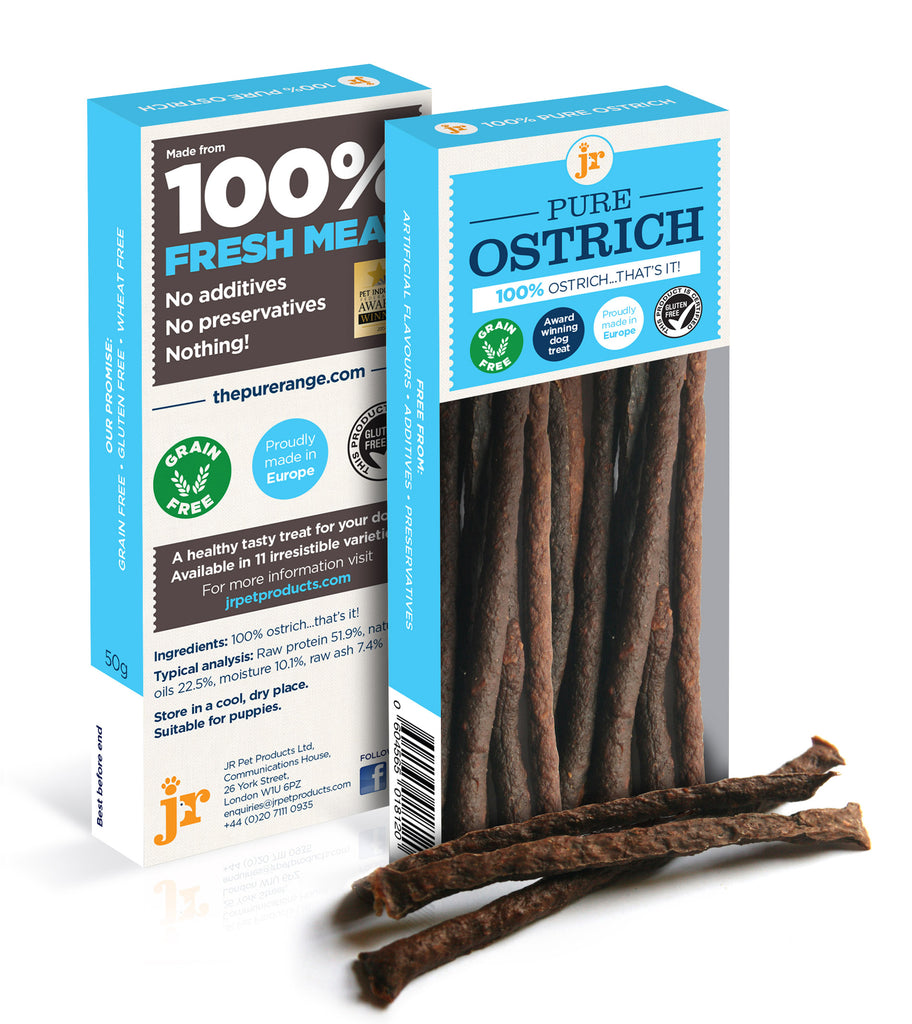 Pure Ostrich Sticks - Distinctive Pets