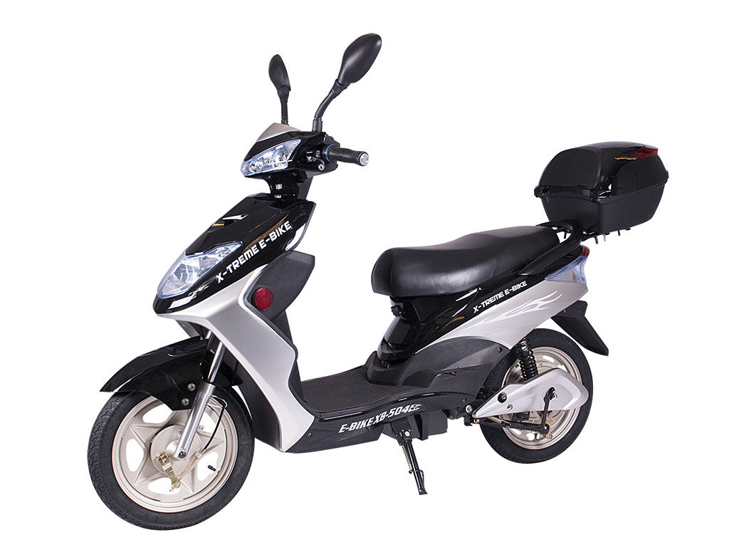 X Treme Xb 504 Electric Bicycle Moped With Rear Storage Box Ebike Catalog