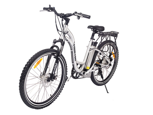 X-Treme - TrailClimber - Step Through Electric Mountain Bike w/ Aluminum Frame, Disc Brakes and Lithium Battery - EBike Catalog - 1