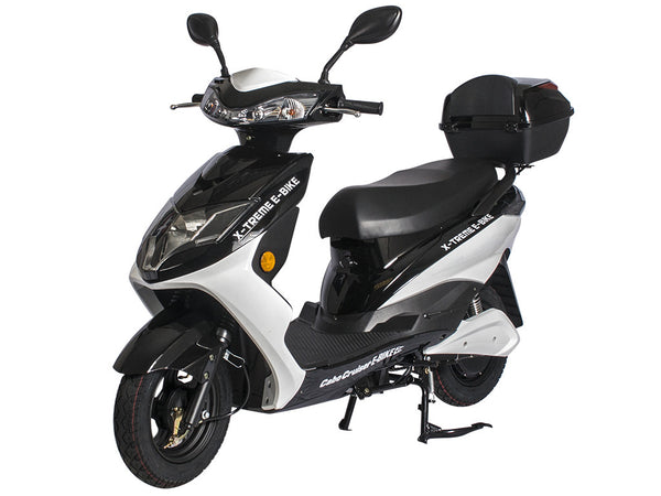 X-Treme - Cabo Cruiser Elite - Long Range Electric Bicycle Moped with Rear Storage Box - EBike Catalog - 1