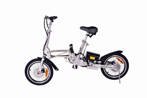 X-Treme City Express Folding Electric Bike Affordable Pedal Assist/Twist Throttle Foldable Bike