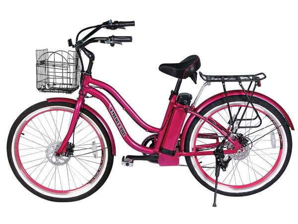 X-Treme Malibu Elite Step Through Beach Cruiser Electric Bike
