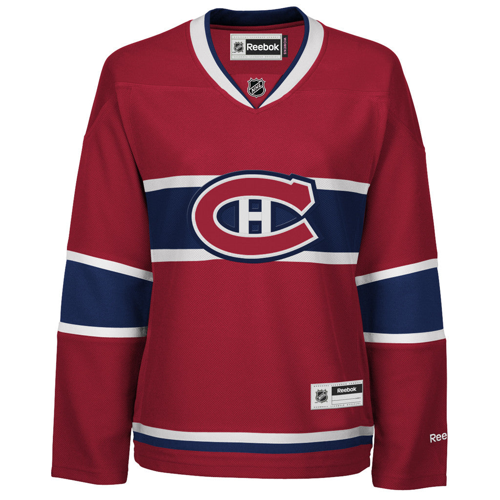 NHL Montreal Canadiens Reebok Women's Premier Jersey - Red