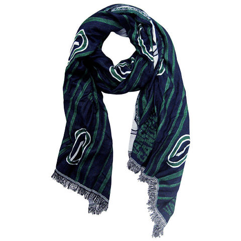 NHL Vancouver Canucks 100% Woven Viscose Scarf (Navy/Green)
