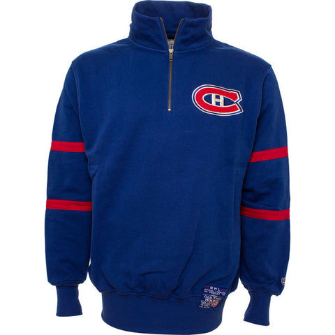 NHL Montreal Canadiens Old Time Hockey Riveria 1/4 Zip Fleece