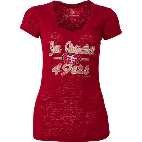 NFL San Francisco 49ers Old Time Football Womens Signal Tee