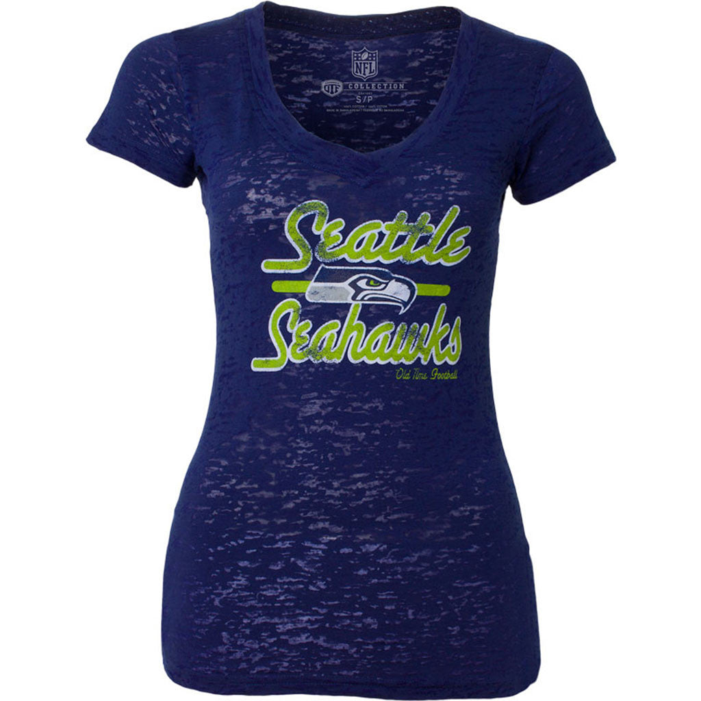 NFL Seattle Seahawks  Old Time Football Womens Signal Tee