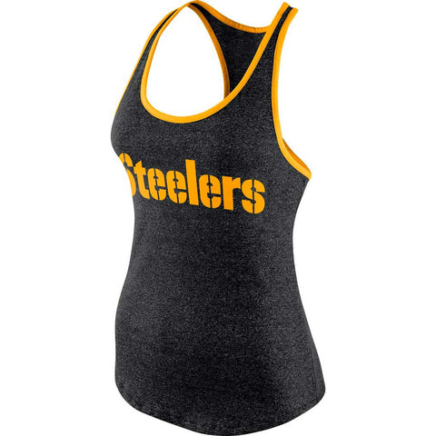 NFL Pittsburgh Steelers Nike Women's Marled Tank
