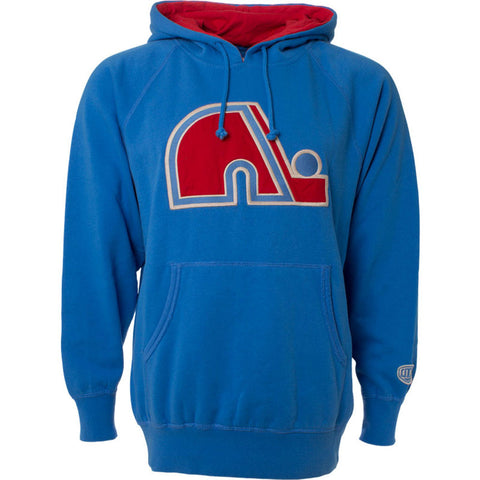 NHL Quebec Nordiques Old Time Hockey Blake Big Logo Hoody