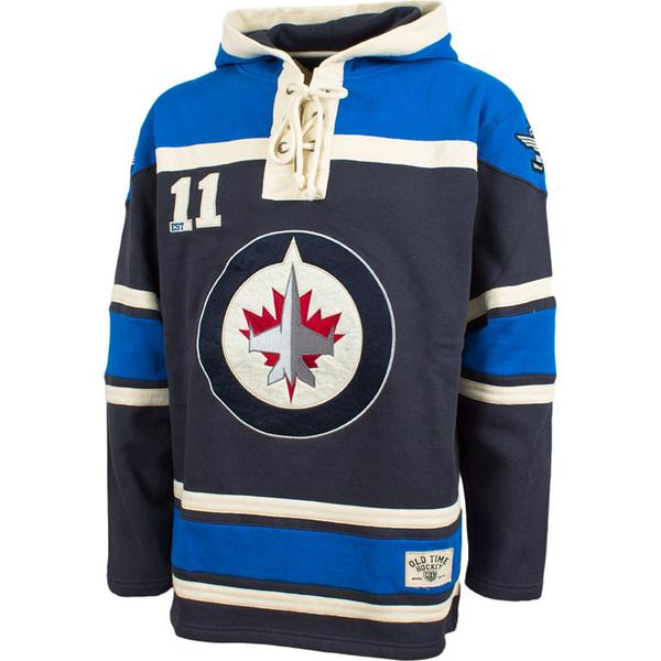NHL Winnipeg Jets Old Time Hockey Home Lace Hoody