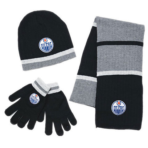 NHL Edmonton Oilers Mens 3pk Winter Gift Set