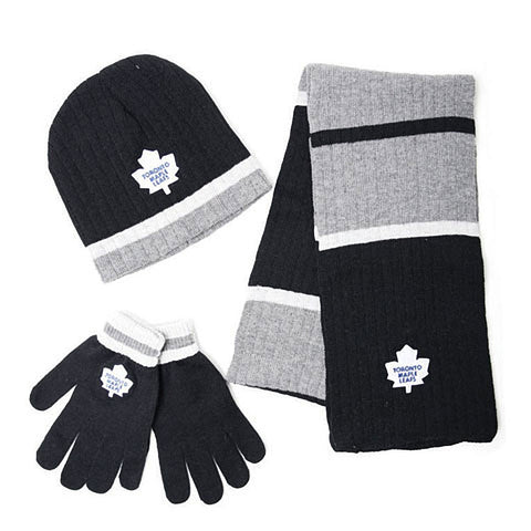 NHL Toronto Maple Leafs Mens 3pk Winter Gift Set