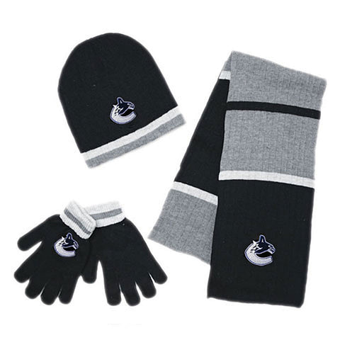 NHL Vancouver Canucks Mens 3pk Winter Gift Set