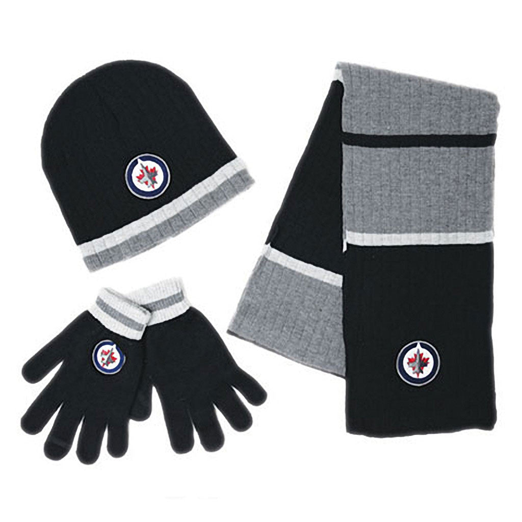 NHL Winnipeg Jets Mens 3pk Winter Gift Set