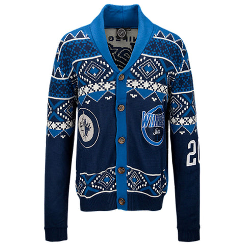 NHL Winnipeg Jets Mens Ugly Christmas Cardigan