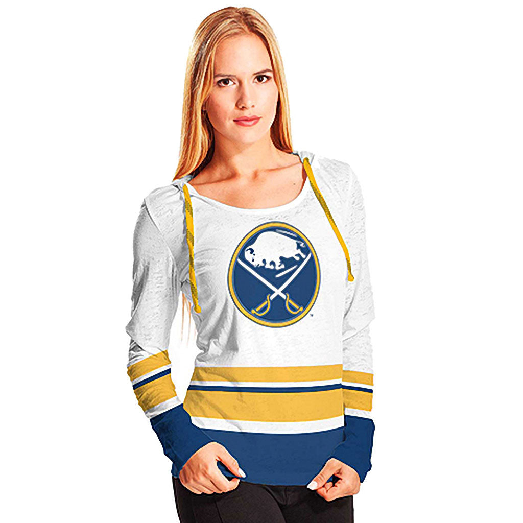 NHL Buffalo Sabres Women's Skate Lace Lucy Hoody