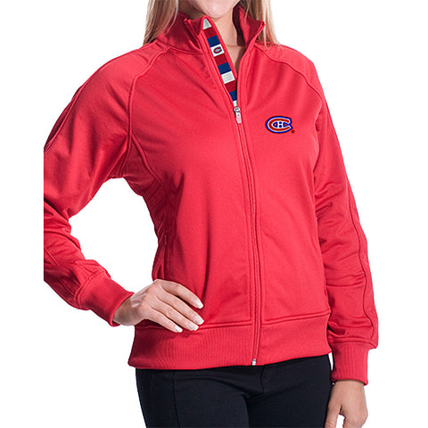 NHL Montreal Canadiens Women's Venture Tri Stripe Track Jacket