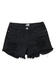 denim shorts black