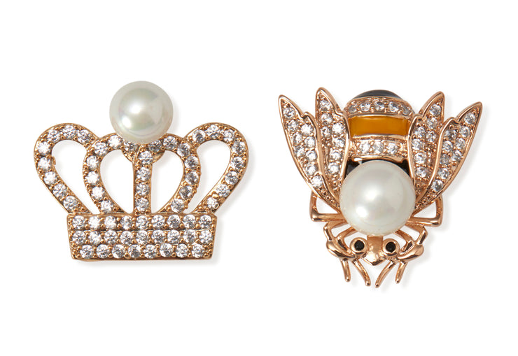 retema's bling pin gold crown with a pearl