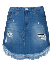 denim mini skirt blue