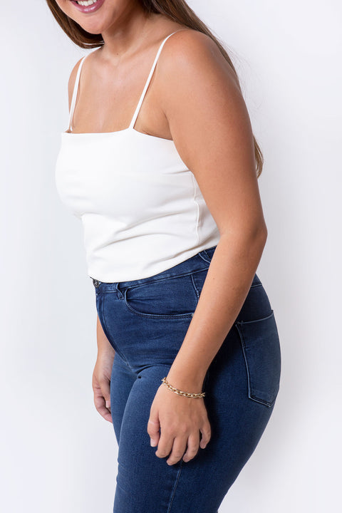 basic crop top white