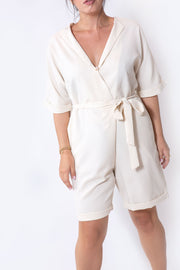 tailored jumpsuit cream
