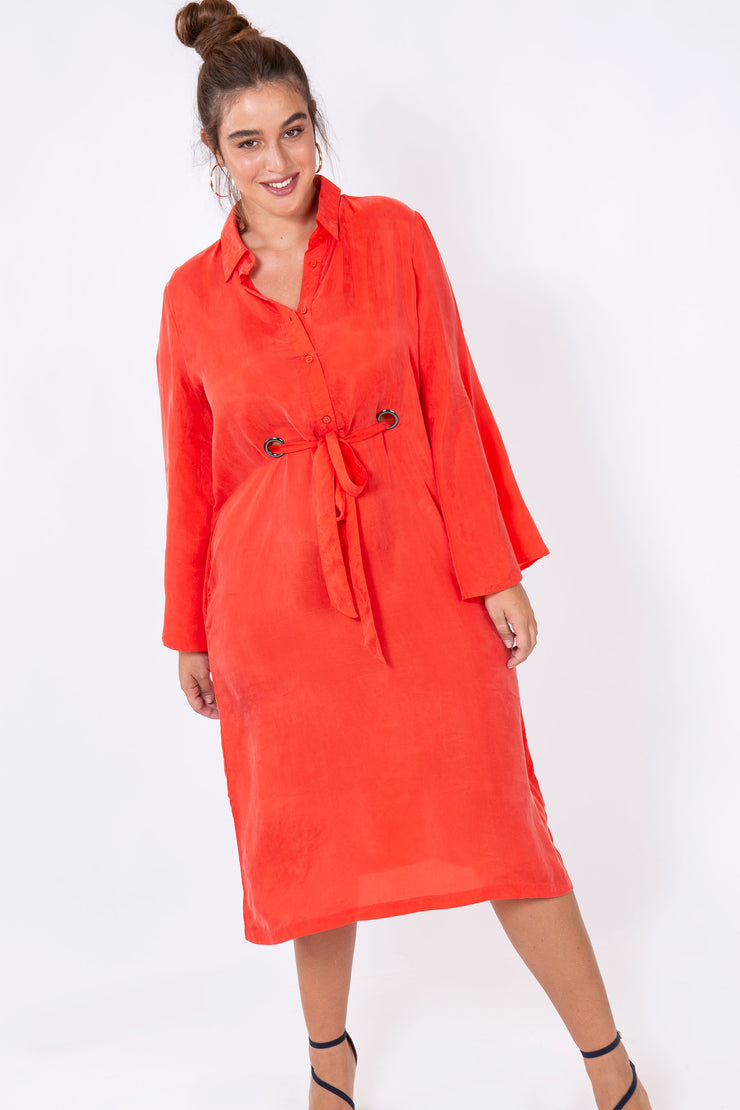 everything dress coral red