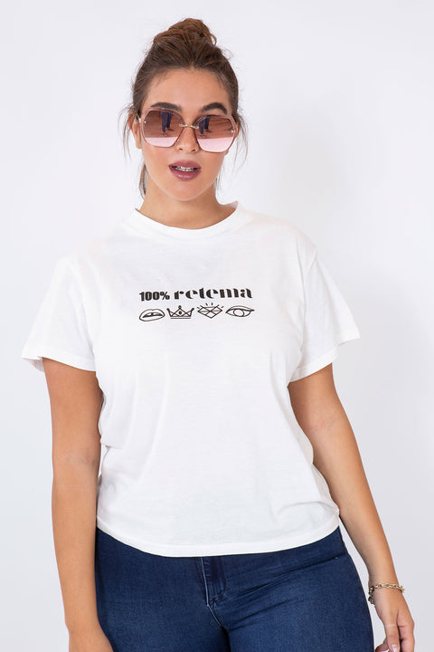all retema t-shirt white