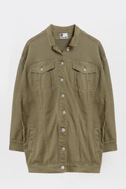 boyfriend denim jacket olive