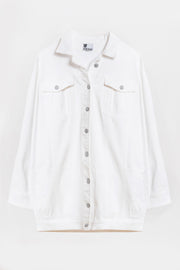 boyfriend denim jacket white