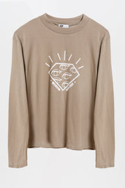 diamond long sleeve t-shirt olive